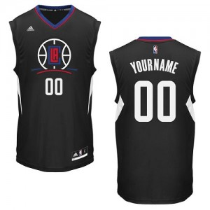 Maillot Adidas Noir Alternate Los Angeles Clippers - Authentic Personnalisé - Femme