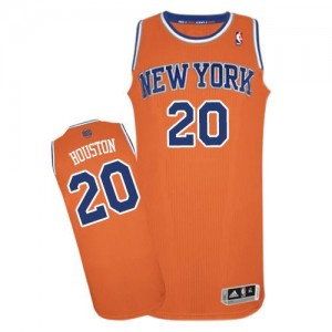 Maillot Adidas Orange Alternate Authentic New York Knicks - Allan Houston #20 - Homme