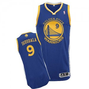 Maillot NBA Golden State Warriors #9 Andre Iguodala Bleu royal Adidas Authentic Road - Homme