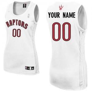 Maillot NBA Authentic Personnalisé Toronto Raptors Home Blanc - Femme