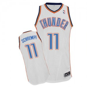 Maillot Authentic Oklahoma City Thunder NBA Home Blanc - #11 Detlef Schrempf - Homme