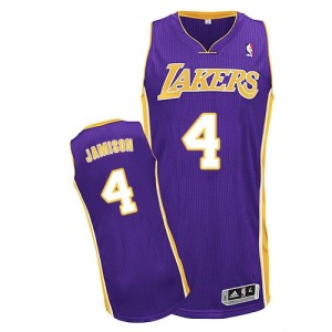 Maillot NBA Authentic Byron Scott #4 Los Angeles Lakers Road Violet - Homme
