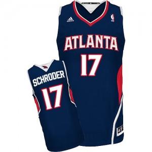 Maillot NBA Bleu marin Dennis Schroder #17 Atlanta Hawks Road Swingman Homme Adidas