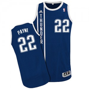 Maillot NBA Bleu marin Cameron Payne #22 Oklahoma City Thunder Alternate Authentic Homme Adidas