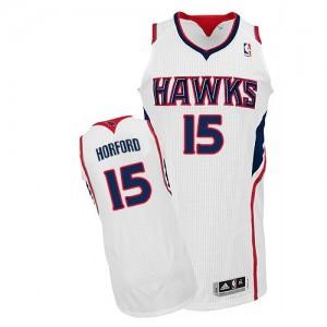 Atlanta Hawks Al Horford #15 Home Authentic Maillot d'équipe de NBA - Blanc pour Homme