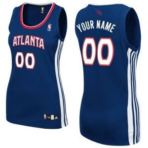 Maillot NBA Bleu marin Authentic Personnalisé Atlanta Hawks Road Femme Adidas