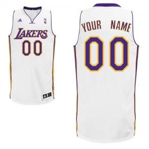 Maillot NBA Swingman Personnalisé Los Angeles Lakers Alternate Blanc - Homme