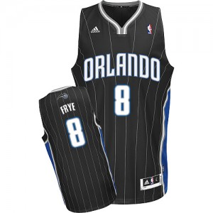 Maillot NBA Noir Channing Frye #8 Orlando Magic Alternate Swingman Homme Adidas