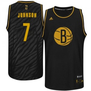 Maillot NBA Swingman Joe Johnson #7 Brooklyn Nets Precious Metals Fashion Noir - Homme