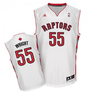 Maillot NBA Blanc Delon Wright #55 Toronto Raptors Home Swingman Homme Adidas