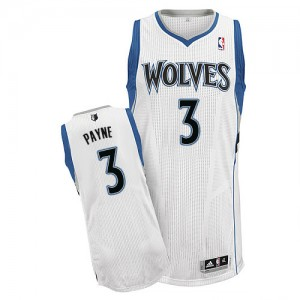 Maillot NBA Minnesota Timberwolves #3 Adreian Payne Blanc Adidas Authentic Home - Homme