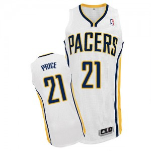 Maillot NBA Authentic A.J. Price #21 Indiana Pacers Home Blanc - Homme