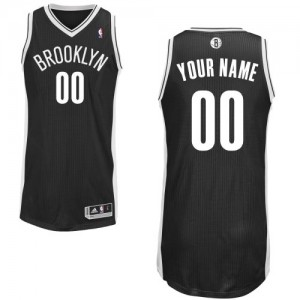 Maillot NBA Brooklyn Nets Personnalisé Authentic Noir Adidas Road - Homme