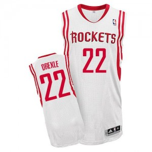 Maillot NBA Houston Rockets #22 Clyde Drexler Blanc Adidas Authentic Home - Homme
