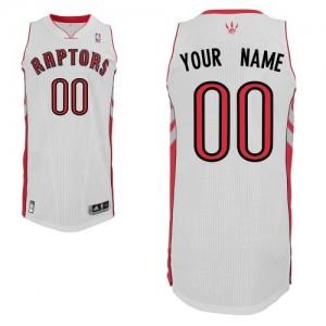 Toronto Raptors Personnalisé Adidas Home Blanc Maillot d'équipe de NBA préférentiel - Authentic pour Homme