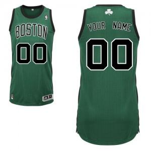 Maillot NBA Authentic Personnalisé Boston Celtics Alternate Vert (No. noir) - Enfants