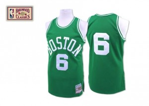 Maillot Authentic Boston Celtics NBA Throwback Vert - #6 Bill Russell - Homme