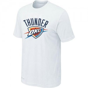 Oklahoma City Thunder Big & Tall Tee-Shirt d'équipe de NBA - Blanc pour Homme