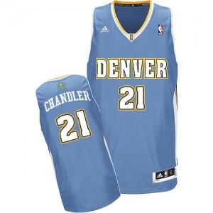 Maillot NBA Bleu clair Wilson Chandler #21 Denver Nuggets Road Swingman Homme Adidas