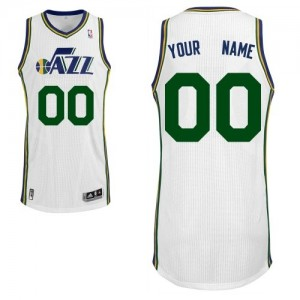 Maillot Adidas Blanc Home Utah Jazz - Authentic Personnalisé - Enfants