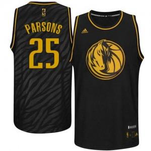 Dallas Mavericks #25 Adidas Precious Metals Fashion Noir Swingman Maillot d'équipe de NBA en ligne - Chandler Parsons pour Homme