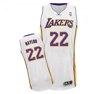 Maillot NBA Authentic Elgin Baylor #22 Los Angeles Lakers Alternate Blanc - Homme