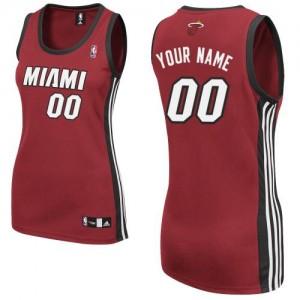 Maillot NBA Authentic Personnalisé Miami Heat Alternate Rouge - Femme