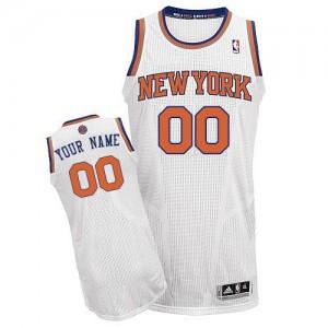 New York Knicks Personnalisé Adidas Home Blanc Maillot d'équipe de NBA prix d'usine en ligne - Authentic pour Homme