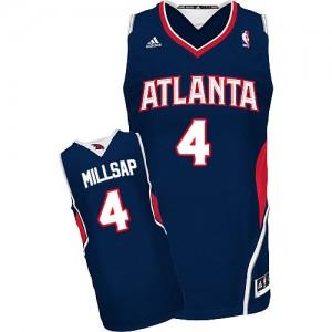 Maillot NBA Atlanta Hawks #4 Paul Millsap Bleu marin Adidas Swingman Road - Homme