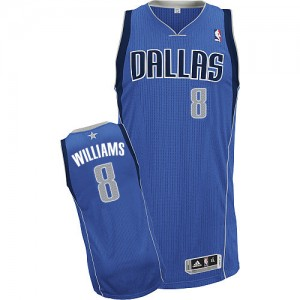 Maillot Authentic Dallas Mavericks NBA Road Bleu royal - #8 Deron Williams - Femme