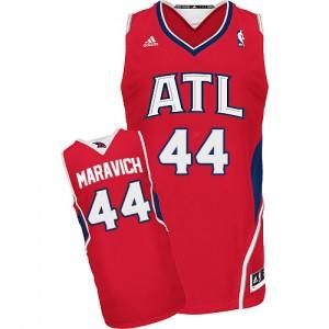 Atlanta Hawks #44 Adidas Alternate Rouge Swingman Maillot d'équipe de NBA boutique en ligne - Pete Maravich pour Homme