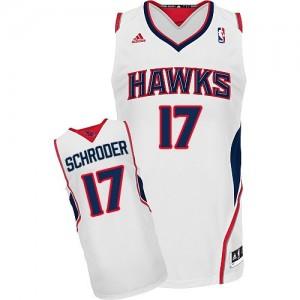 Maillot NBA Blanc Dennis Schroder #17 Atlanta Hawks Home Swingman Homme Adidas