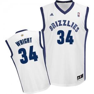 Maillot NBA Swingman Brandan Wright #34 Memphis Grizzlies Home Blanc - Homme