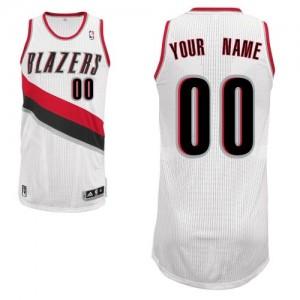 Maillot NBA Portland Trail Blazers Personnalisé Authentic Blanc Adidas Home - Enfants