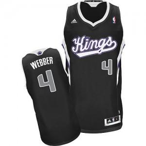 Maillot NBA Sacramento Kings #4 Chris Webber Noir Adidas Swingman Alternate - Homme