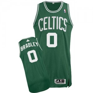 Maillot NBA Boston Celtics #0 Avery Bradley Vert (No Blanc) Adidas Authentic Road - Homme