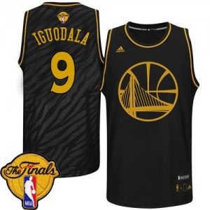 Maillot Adidas Noir Precious Metals Fashion 2015 The Finals Patch Authentic Golden State Warriors - Andre Iguodala #9 - Homme