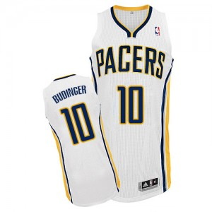 Indiana Pacers Chase Budinger #10 Home Authentic Maillot d'équipe de NBA - Blanc pour Homme
