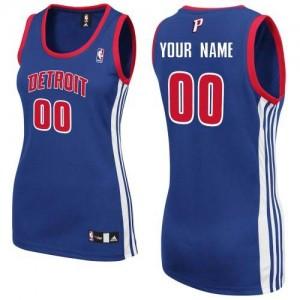 Maillot NBA Detroit Pistons Personnalisé Authentic Bleu royal Adidas Road - Femme