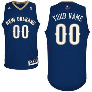 Maillot NBA New Orleans Pelicans Personnalisé Swingman Bleu marin Adidas Road - Enfants