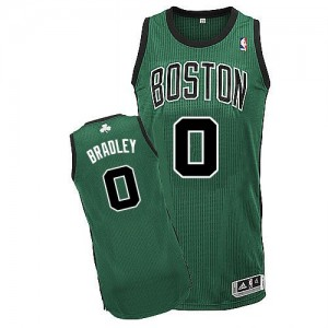 Boston Celtics Avery Bradley #0 Alternate Authentic Maillot d'équipe de NBA - Vert (No. noir) pour Homme