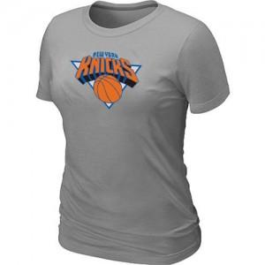 T-shirt principal de logo New York Knicks NBA Big & Tall Gris - Femme