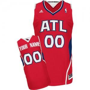 Maillot NBA Rouge Swingman Personnalisé Atlanta Hawks Alternate Enfants Adidas