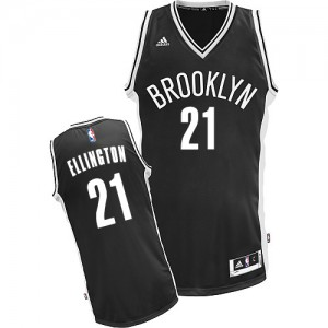 Maillot NBA Brooklyn Nets #21 Wayne Ellington Noir Adidas Swingman Road - Homme
