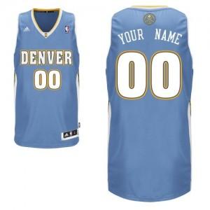Denver Nuggets Swingman Personnalisé Road Maillot d'équipe de NBA - Bleu clair pour Homme