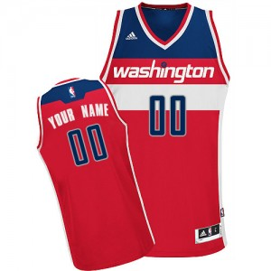 Maillot NBA Swingman Personnalisé Washington Wizards Road Rouge - Homme
