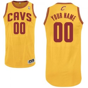 Maillot NBA Or Authentic Personnalisé Cleveland Cavaliers Alternate Homme Adidas