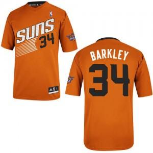 Phoenix Suns Charles Barkley #34 Alternate Authentic Maillot d'équipe de NBA - Orange pour Homme