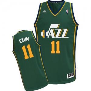 Utah Jazz #11 Adidas Alternate Vert Swingman Maillot d'équipe de NBA Braderie - Dante Exum pour Homme