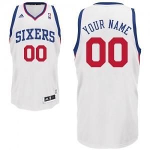 Maillot NBA Swingman Personnalisé Philadelphia 76ers Home Blanc - Enfants